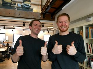 Today's twinsies: Mark and Ben are wearing the same jumper.