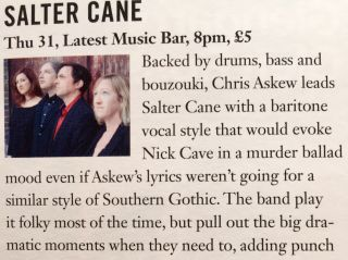 Salter Cane sighting in a local Brighton magazine this morning.