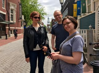 Hanging out at Harvard: @wordridden, @beep and @drinkerthinker.
