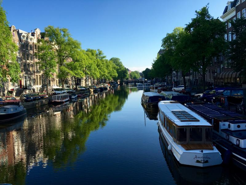 Amsterdam's looking lovely this morning.
