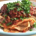 Homemade pappardelle with pig cheek ragu.