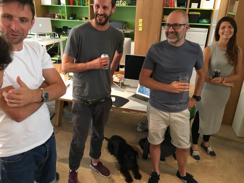 End of week stand-down at @Clearleft …featuring Huxley!