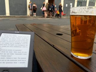 Having a pint and a read while I wait for the doors to open for @wordridden's dance performance this evening.
