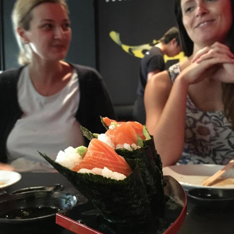 Sushi with @tea_ivanova and @lottejackson.