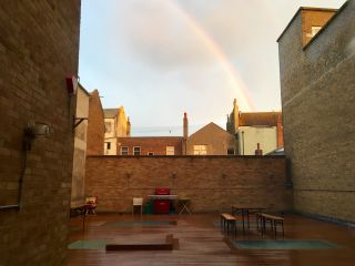 Rainbow, as observed from @Clearleft HQ.
