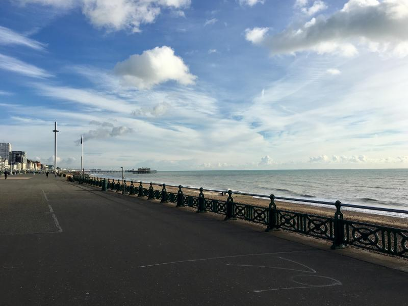 Went for a bracing walk along the seafront with @dhuntrods.