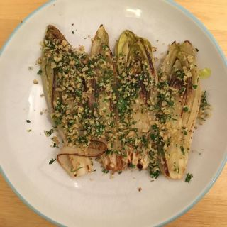 Endive with walnut gremolata.