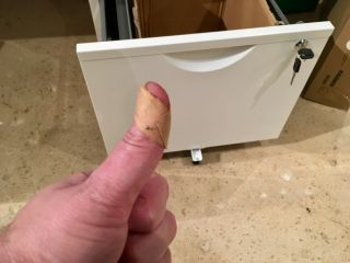 Who's got most of two thumbs and botched the assembly of Ikea drawers?