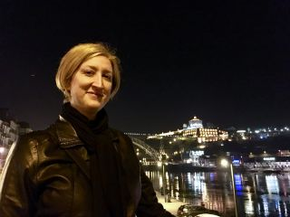 Porto at night.