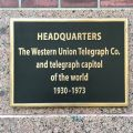 """HEADQUARTERS The Western Union Telegraph Co. and telegraph capitol of the world 1930-1973"" —60 Hudson, New York"