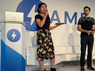 Watching @kosamari and @pbakaus kick off AMP Conf.