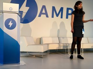 Listening to @NataliaLKB talk about AMP at The Guardian.