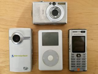 Going through stuff in the attic, I found devices that have been made obsolete by my phone.