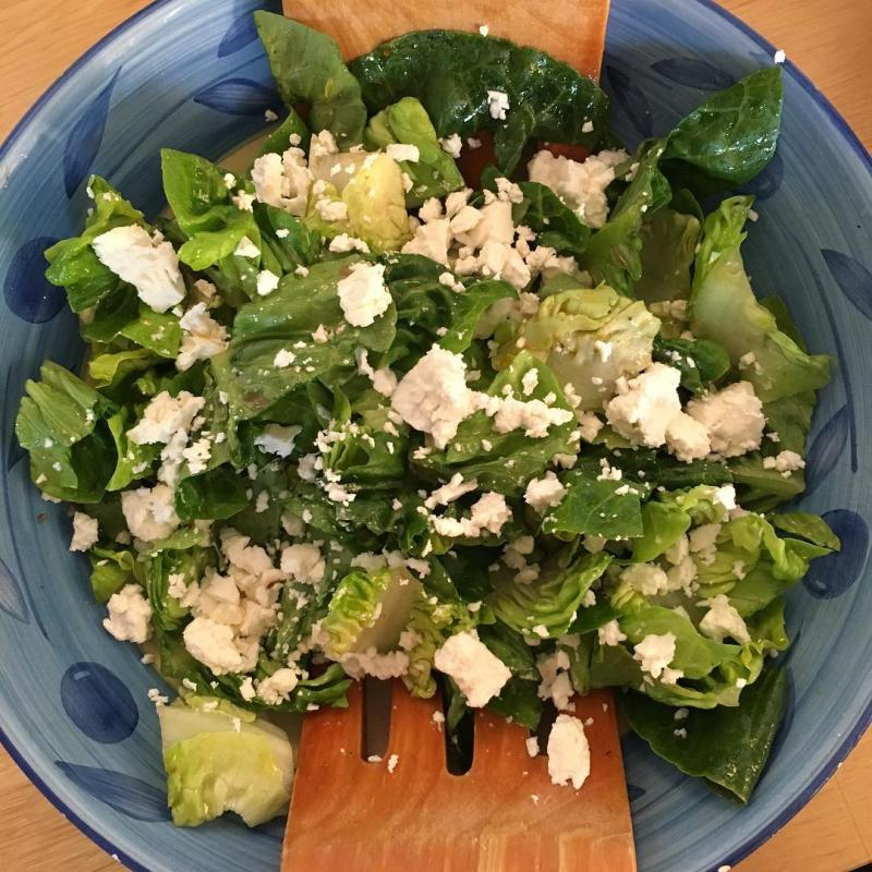 Feta and little gem salad.