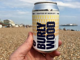 Having a @beerleft Burly Wood on the beach to end the working week.