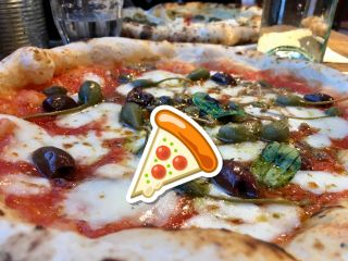 Checked in at Franco Manca. Post-movie pizza. — with Jessica