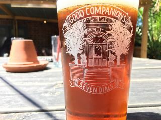 Checked in at Good Companions. Liquid lunch in the sun.