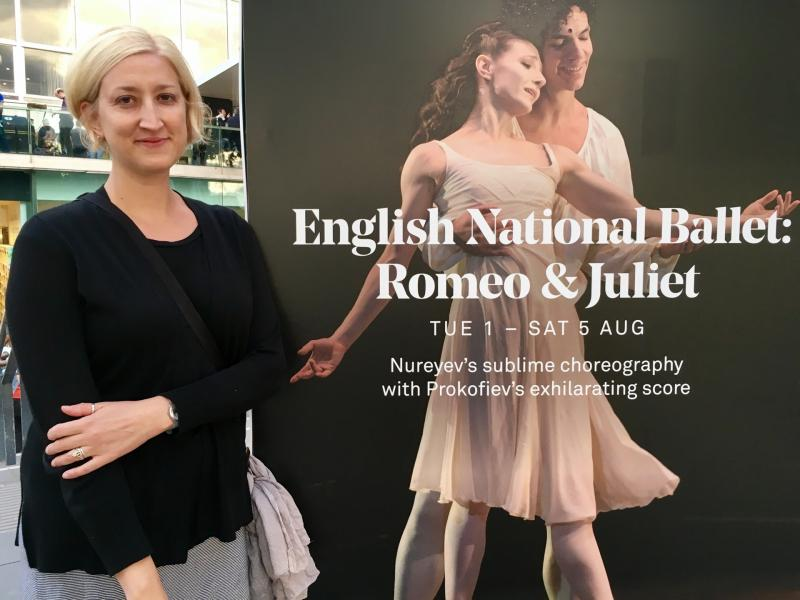 Checked in at Royal Festival Hall. Romeo and Juliet — with Jessica