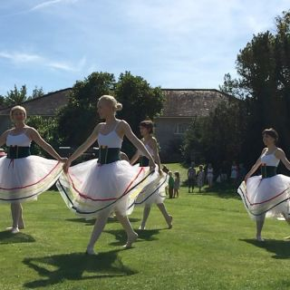 Ballet on the croquet lawn.