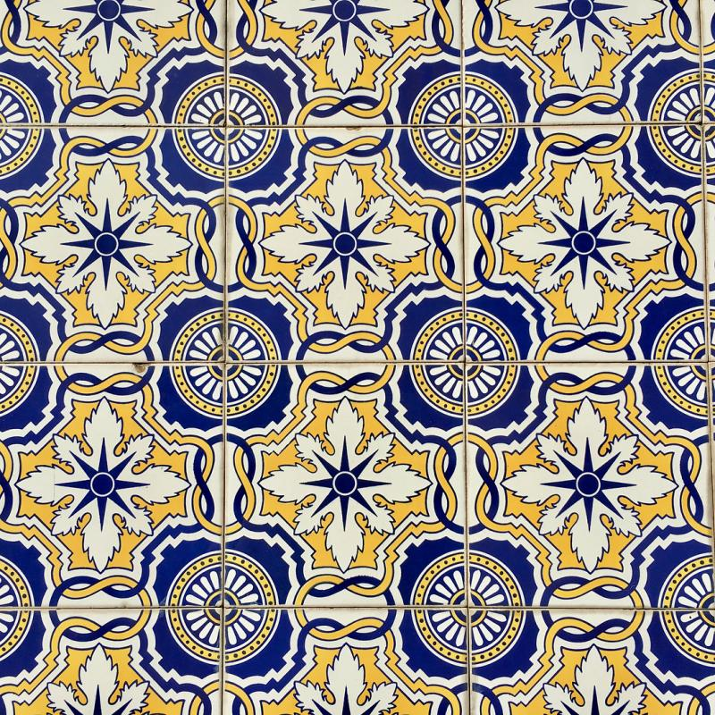 The tiled background images of Braga.