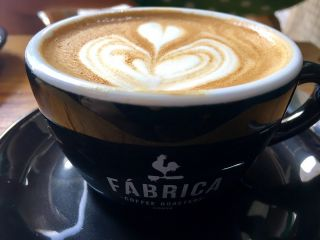 Checked in at Fábrica Coffee Roasters. with Jessica