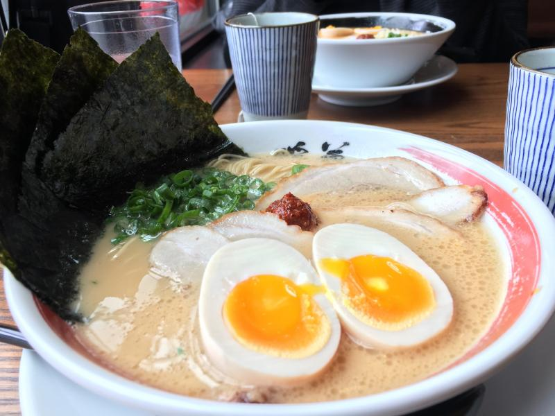 Checked in at Danbo Ramen. Oishi! — with Jessica