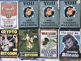 The cryptocurrency propaganda posters are losing their lustre.