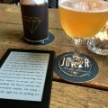 Checked in at The Joker. Beer, book, and candle.