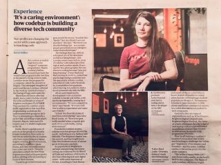 Reading about @CodebarBrighton in today's @Guardian.