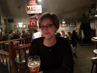 Checked in at Deponie Nr. 3. First beer in Berlin — with Jessica