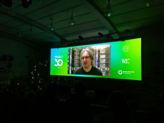 This is surreal. Watching a video about the making of https://worldwideweb.cern.ch …at CERN …on the 30th anniversary of the web.