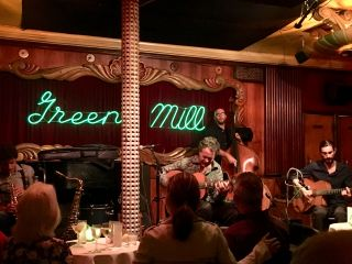 Back in the Green Mill. Last time I was here, @adrianholovaty was playing.