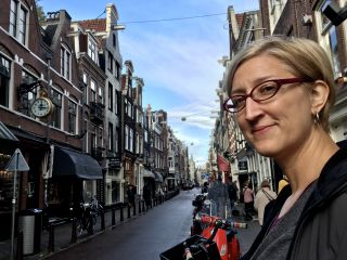 The streets of Amsterdam.