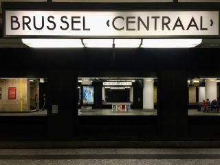 Checked in at Brussels Central Station (Station Brussel-Centraal). with Jessica