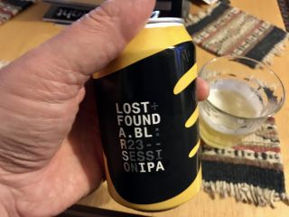 Winding down with a can of @LostFoundABL R23 session IPA. Cheers!