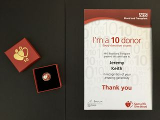 Levelled up my blood donation game! You can challenge my score here: https://www.blood.co.uk 🩸🥇