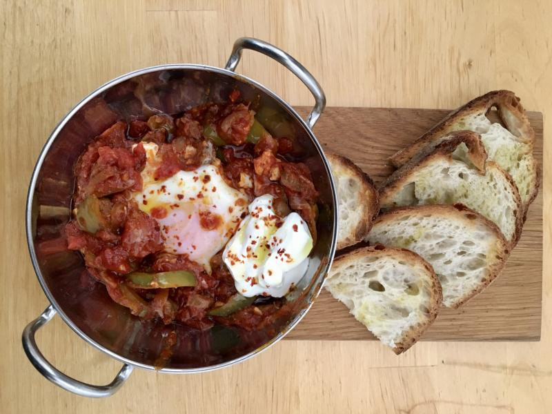 Sunday brunch shakshuka.