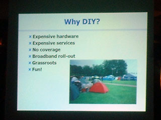 one of Dave's slides: why DIY?