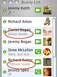 a screenshot of iChat