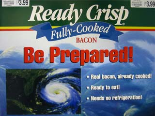 ready crisp fully-cooked bacon: be prepared