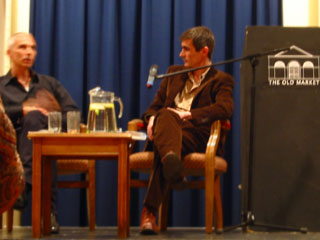 Authors Thomson and Miller discussing their work
