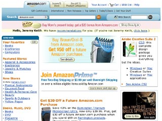 a screenshot of the home page