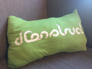 Comfy @dConstruct cushion courtesy of @anna_debenham.