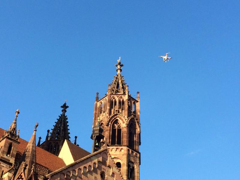 Drone over Freiburg.