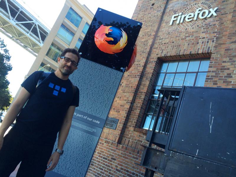 Hanging out at the Mozilla office with @t.