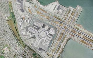 At San Francisco's nascent spaceport preparing for a coast-to-coast jump to New York. Spinning up the FTL drive.