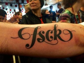 fsck, newly inked on @fehler's arm.