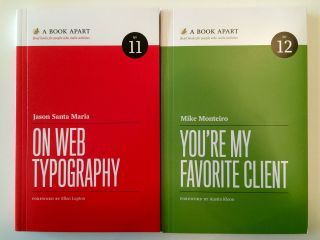 Red book, green book. Thank you, @JasonSantaMaria, @Monteiro, @ABookApart.