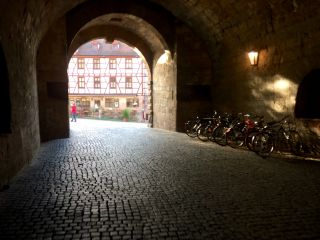 Entering Nürnberg's old town.