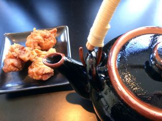 Revived with green tea and karaage.